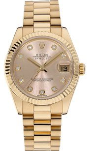 Rolex Rolex 18K Yellow Gold Datejust Custom Diamond Dial Unisex Watch