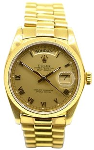 Rolex Rolex 18k Yellow Gold Day-Date President Champagne Roman Watch 18038