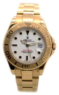 Rolex Rolex Yacht-Master 68628 18K Yellow Gold White Dial Unisex Watch