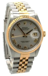 Rolex ROLEX 18K/SS DATEJUST 36mm Men's Roman Numeral WATCH
