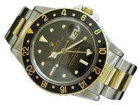 Rolex Rolex 2tone 14k Yellow Goldstainless Steel Gmt-master Oyster Black Nipple 16753