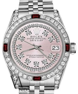 Rolex Rolex 36mm Datejust Pink String Dial with Ruby & Diamonds