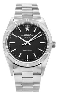 Rolex ROLEX AIR-KING 14010M STAINLESS STEEL BLACK DIAL MEN'S WATCH