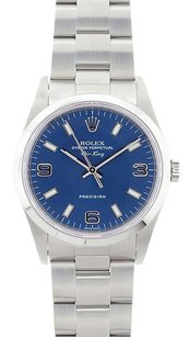 Rolex Rolex Air-King Blue Dial Stainless Steel Oyster Band Watch 14000