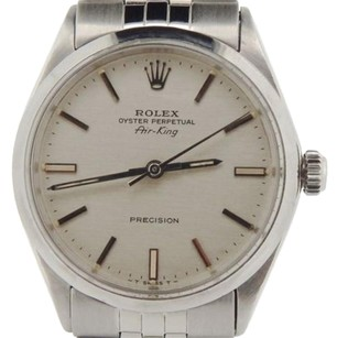 Rolex Rolex Air King Precision Mens Stainless Steel Watch Silver Dial Jubilee 5500