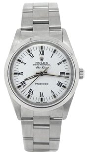 Rolex Rolex Air-King Stainless Steel White Roman Dial Watch 14000