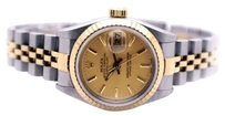 Rolex Rolex Datejust 69173 Steel and 18K Yellow Gold No Holes Ladies Watch
