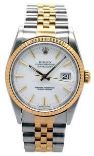 Rolex Rolex Datejust 18K Yellow Gold and Stainless Steel White Dial Men's Watch