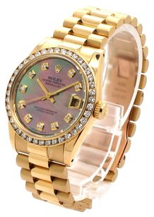 Rolex Rolex Datejust 18K Yellow Gold Custom Diamond Tahitian Dial Presidential Unisex Watch