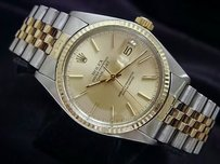 Rolex Rolex Datejust 2tone 14k Gold Stainless Steel Watch Jubilee Band Champagne 16013