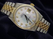 Rolex Rolex Datejust 2tone 18k Gold Stainless Steel White Mother Pearl Diamond 16013