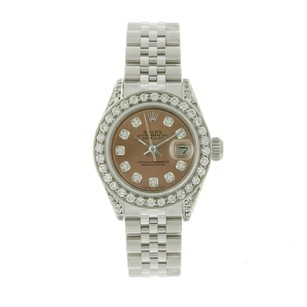 Rolex Rolex Datejust 6917 SS Salmon Diamond Dial 1.5CTW Bezel Ladies Watch