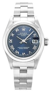 Rolex ROLEX DATE 79160 STAINLESS STEEL BLUE DIAL LADIES WATCH