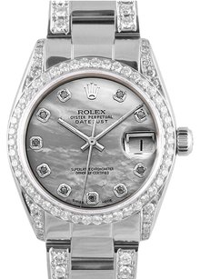 Rolex Rolex Datejust Custom Diamond MOP 31mm Mid Size Watch