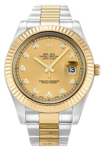 Rolex ROLEX DATEJUST II 116333 CUSTOM DIAMOND DIAL MEN'S WATCH