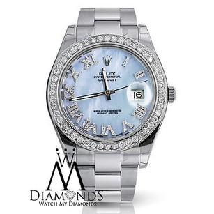 Rolex Rolex Datejust Ii Ice Blue Roman Numeral Dial 41mm Watch Diamond Bezel 116300