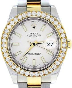 Rolex ROLEX DATEJUST II 18K GOLD AND STEEL CUSTOM DIAMOND MEN'S WATCH