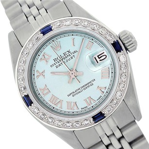 Rolex Rolex Datejust Light Blue Diamond Sapphire Lady Watch 6917