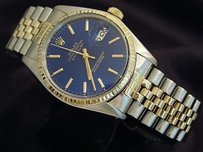 Rolex Rolex Datejust Men Two-tone 14k Yellow Gold Stainless Steel Jubilee Blue 16013