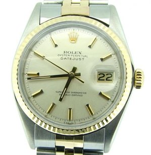 Rolex Rolex Datejust Mens 2tone 14k Gold Stainless Steel Jubilee Silver Dial 1601