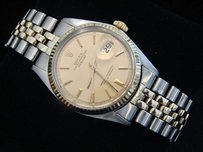 Rolex Rolex Datejust Mens 2tone 14k Gold Stainless Watch Oval Link Jubilee Band 1601