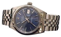 Rolex Rolex Datejust Mens Stainless Steel Watch Domed W Blue Dial Jubilee Band 1603