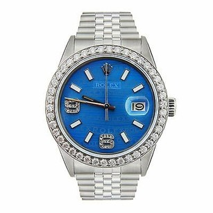 Rolex Rolex Datejust - Mens Steel Watch - Blue Color Jubilee Dial Diamonds 36mm