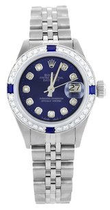 Rolex Rolex Datejust SS Custom Diamond and Sapphire Ladies Watch