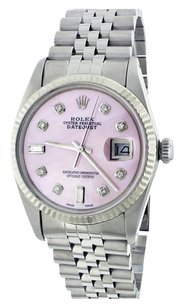 Rolex Rolex Datejust SS Custom Pink Mop Diamond Dial Men's Watch