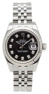 Rolex Rolex Datejust SS original Diamond Black Dial Ladies Watch
