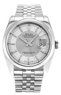 Rolex Rolex Datejust Stainless Steel Silver & Steel Dial Automatic Men's Watch