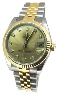 Rolex Rolex DateJust Two-Tone Champagne Diamond Dial Watch