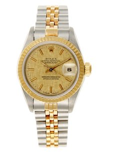 Rolex Rolex Datejust Steel and 18K Yellow Gold Champagne Dial Ladies Watch