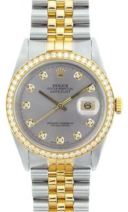 Rolex Rolex DateJust Two-Tone Steel Diamond Watcn 16013