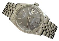 Rolex Rolex Datejust Vintage Stainless Steel Watch Jubilee Band Slate Dial 1603