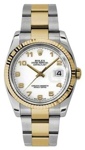 Rolex Rolex Datejust White Dial Two Tone Stainless Steel and 18kt Yellow Gold Men's Watch 116233