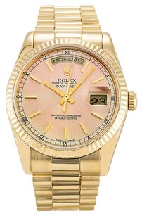 Rolex Rolex Day-Date 18K Yellow Gold Pink Dial Men's Presidential Watch