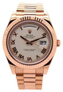 Rolex Rolex Day Date II 18K Pink Gold Ivory Roman Dial Men's Presidential Watch