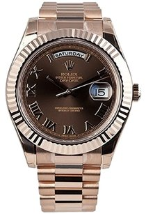 Rolex Rolex Day-Date II 41 President Everose Gold Watch Chocolate Dial 218235