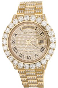 Rolex Rolex Day-Date President 18k Yellow Gold Diamond Watch 218238