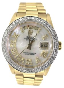 Rolex Rolex Day-Date White Mother of Pearl Diamond President Watch