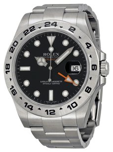 Rolex Rolex Explorer II Men's Black Dial Stainless Steel Watch 216570