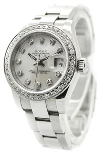 Rolex Rolex Datejust 179174 Stainless Steel Custom Diamond Ladies Watch