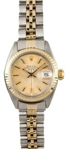 Rolex Rolex Ladies Date Two-Tone Champagne Stick Dial Watch 6917