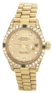 Rolex Rolex Ladies DateJust 18k Yellow Gold Champagne Diamond Watch 6917