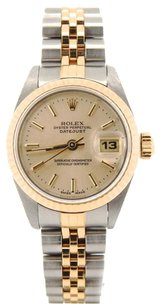 Rolex Rolex Ladies DateJust Two Tone Rose Dial Watch 6917