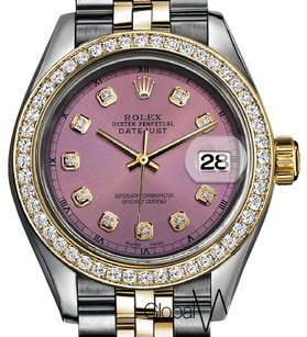 Rolex Rolex Ladies Small 26 mm Dusty Rose Gold _ Steel two-tone Jubilee Band