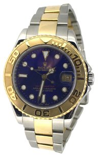 Rolex ROLEX Ladies Two-Tone Blue Dial Midsize Yachtmaster Watch 16168623