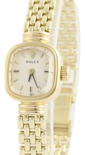 Rolex Rolex Ladies Wristwatch 7.25 - 14k Yellow Gold Ciner Link Band Womens Square