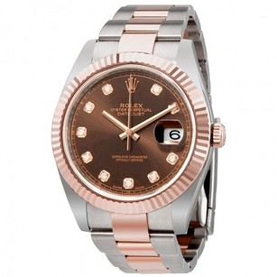 Rolex Rolex Men's Datejust Chocolate Diamond Dial Everose Gold Watch 126331